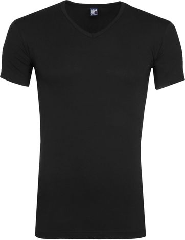 Alan Red Oklahoma Stretch T-Shirt Schwarz (2er-Pack)