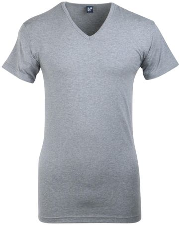 Alan Red Oklahoma Stretch T-Shirt V-Ausschnitt Mausgrau (1er-Pac