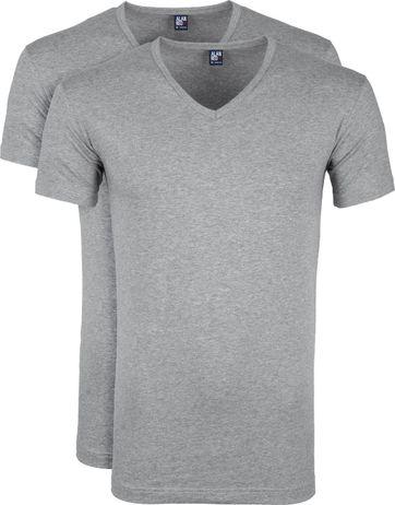 Alan Red Oklahoma T-shirt Stretch Grey 2-Pack