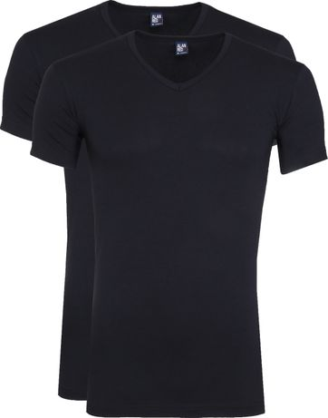 Alan Red Oklahoma T-Shirt Stretch Navy (2-Pack)