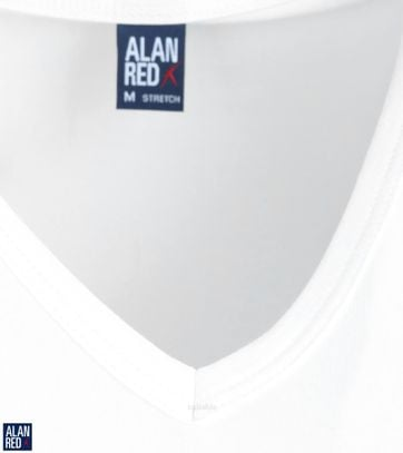 Alan Red Oklahoma T-shirt Stretch Wit (2pack)