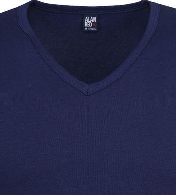 Alan Red Oklahoma V-Hals T-Shirt Blauw Stretch (2Pack)