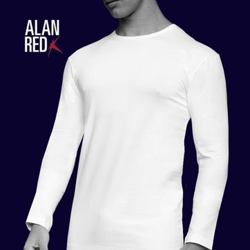 Alan Red Olbia Longsleeve White 1-Pack