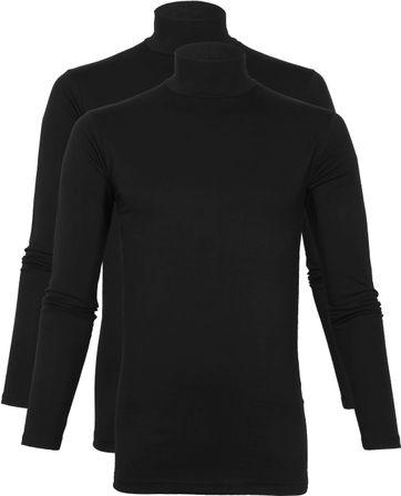 Alan Red Oster Rollkragen Longsleeve Shirt Schwarz 2-Pack