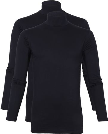 Alan Red Oster Turtleneck Longsleeve Shirt Navy 2-pack