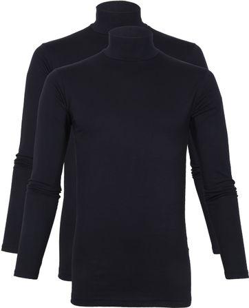 Alan Red Oster Turtleneck Longsleeve Shirt Navy 2-pack