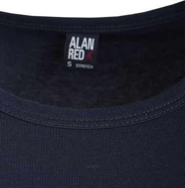Alan Red Ottawa T-shirt Stretch Navy 2-Pack