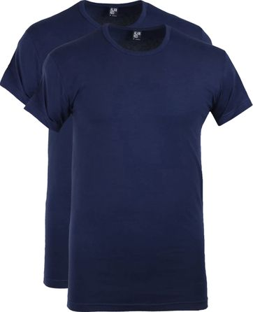 Alan Red Ottawa T-shirt Stretch Ultra Marine 2-Pack