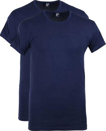 Alan Red Ottawa T-shirt Stretch Ultramarine 2-Pack