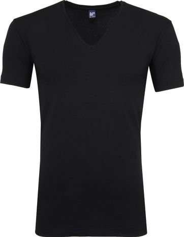 Alan Red Stretch V-Ausschnitt T-Shirt Schwarz 2er-Pack