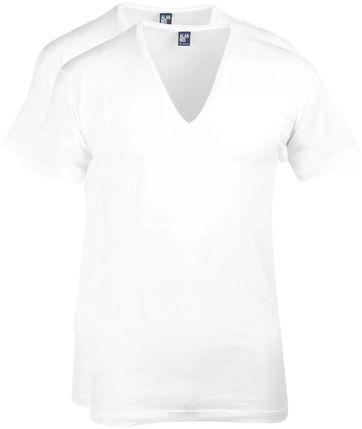 Alan Red T-Shirt Extra Tiefer V-Ausschnitt Stretch