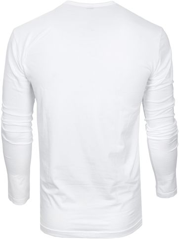 Alan Red T-shirt Oslo V Hals Longsleeve  - Wit maat M