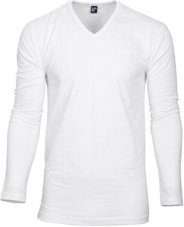 Alan Red T-shirt Oslo V Neck Longsleeve