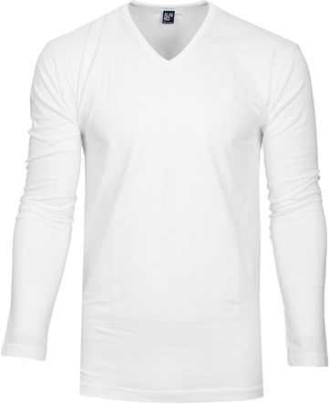 Alan Red T-shirt Oslo V Neck Longsleeve
