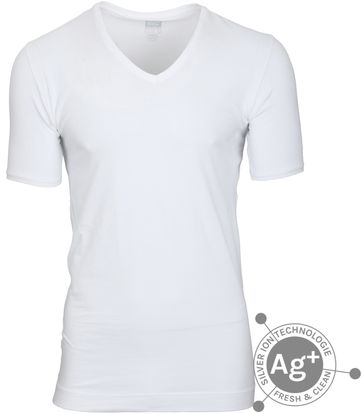 Alan Red T-shirt Oxford Weiss