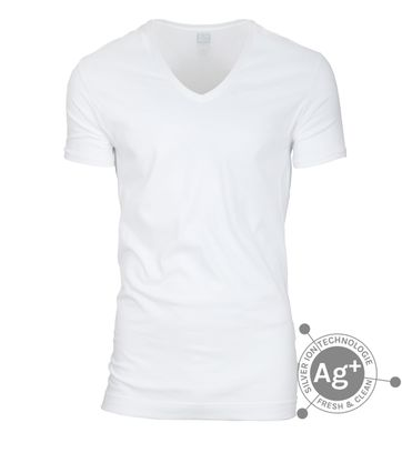 Alan Red T-shirt Silver Weiss