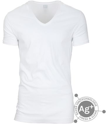 Alan Red T-shirt Silver White