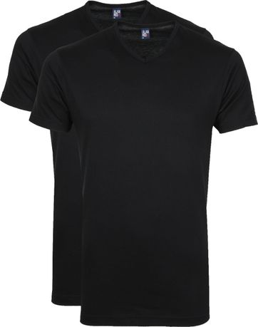 Alan Red T-Shirt V-Hals Vermont Zwart (2pack)