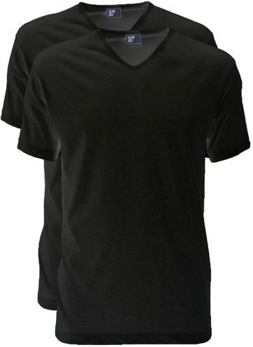 Alan Red T-Shirt V-Neck Vermont Black (2pack)