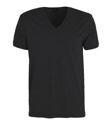Alan Red T-Shirt Verner Tiefer V-Ausschnitt Schwarz
