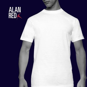 Alan Red T-shirt Virginia O-Neck 2-Pack