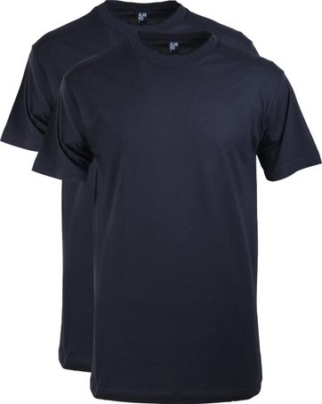 Alan Red T-shirt Virginia O-Neck Navy 2-Pack