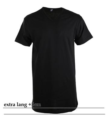 Alan Red Vermont Extra Lang T-Shirt Zwart (1Pack)