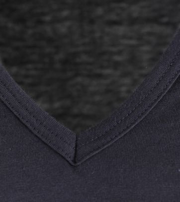 Alan Red Vermont Extra Long T-shirts Navy 2-Pack
