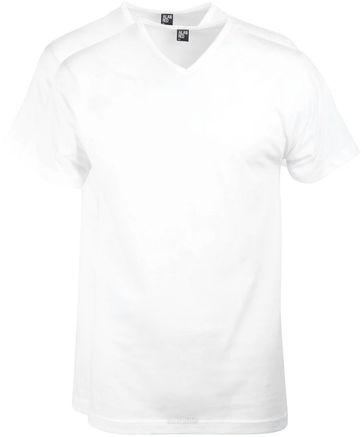 Alan Red Vermont T-Shirt V-Hals Wit (2Pack)