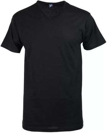 Alan Red Vermont T-shirt V-Neck Black 1-Pack