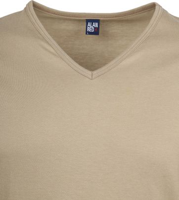 Alan Red Vermont T-Shirt V-Neck Khaki (2Pack)
