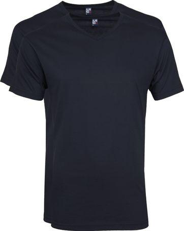 Alan Red Vermont T-shirts V-Ausschnitt Dunkelblau (2Pack)