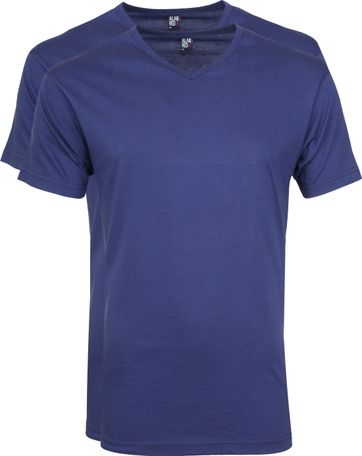 Alan Red Vermont T-shirts V-Neck Blue(2Pack)
