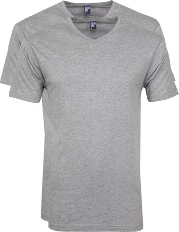 Alan Red Vermont T-shirts V-Neck Grey (2Pack)
