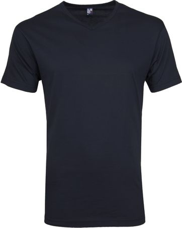 Alan Red Vermont T-shirts V-Neck Navy (2Pack)