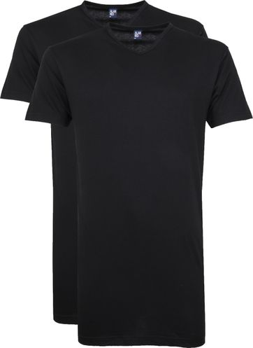 Alan Red Vermont V-Hals T-Shirt Black 2Pack