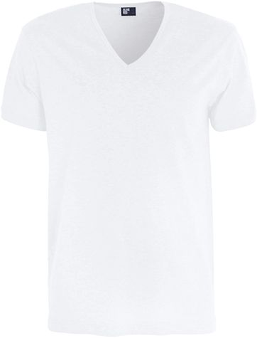 Alan Red Verner T-shirt Deep V-Neck White 1-Pack