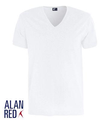 Alan Red Verner T-shirt Diepe V-Hals Wit (1Pack)