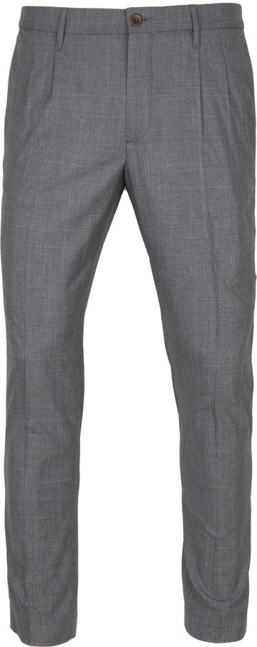Alberto Pleat Chino Grey