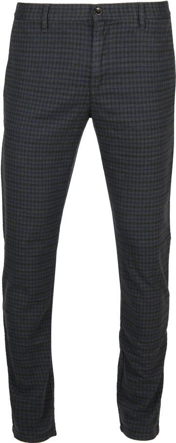 Alberto Rob Chino Dark Grey Check