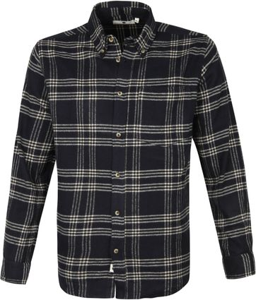 Anerkjendt Akkonrad Overshirt Window Pane Navy