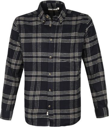 Anerkjendt Akkonrad Shirt Window Pane Navy