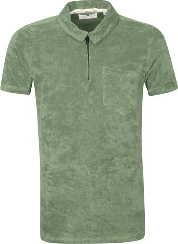 Anerkjendt Polo Shirt Half Zip Akbob Green
