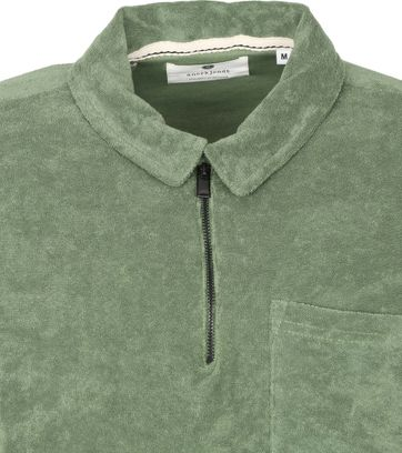 Anerkjendt Polo Shirt Half Zip Akbob Green