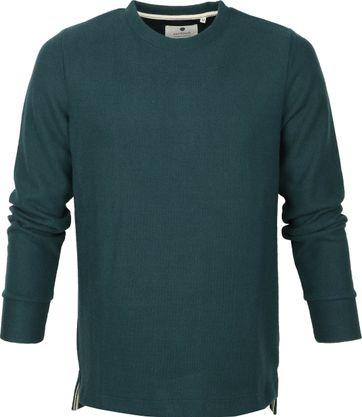 Anerkjendt Sweater Dunkelgrün Streifen