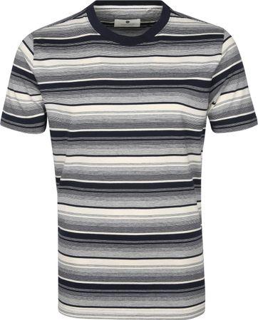 Anerkjendt T-shirt Akrod Streifen Navy