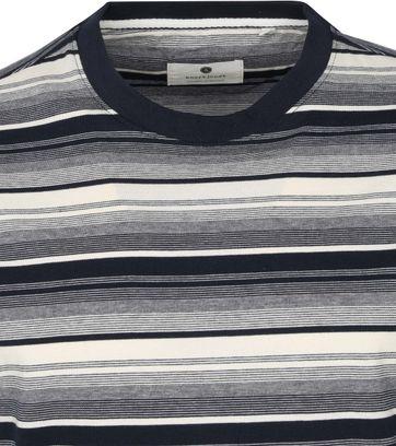Anerkjendt T-shirt Akrod Strepen Donkerblauw