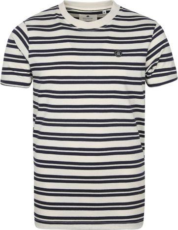 Anerkjendt T-shirt Akrod Tofu Strepen Donkerblauw