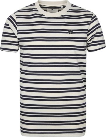 Anerkjendt T Shirt Akrod Tofu Stripes Navy