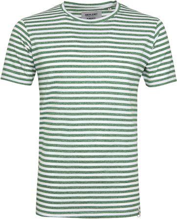 Anerkjendt T-shirt Ralf Streifen Grün